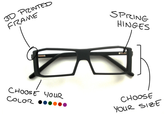 how to make glasses frames with a 3d printer