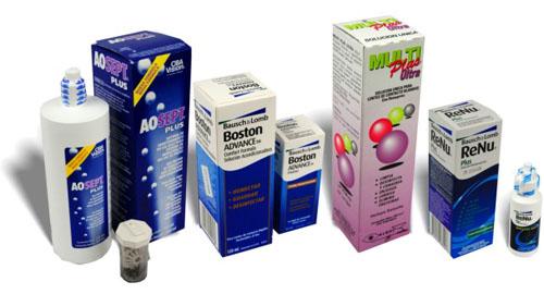 liquidos de limpieza para lentes de contacto