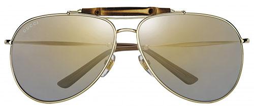 gafas de sol gucci bamboo dorada