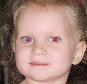 foto con ojos rojos