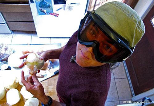 gafas de snow para cortar cebolla
